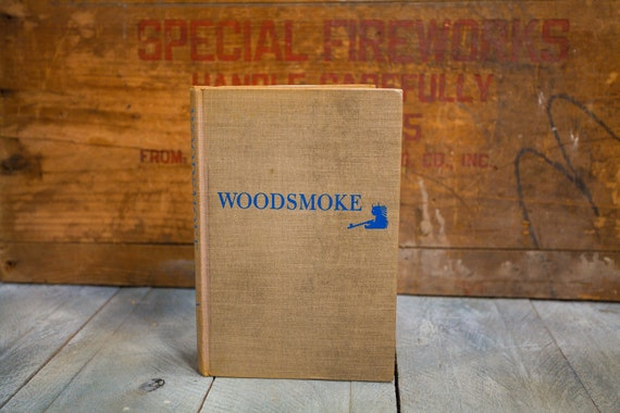 Vintage 1953 Woodsmoke Book Ellsworth Jaeger Camping Fishing Fires Shelters Indians The Macmillan Co.