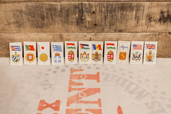 Vintage John Player And Sons National Flags Tobacco Cigarette Cards