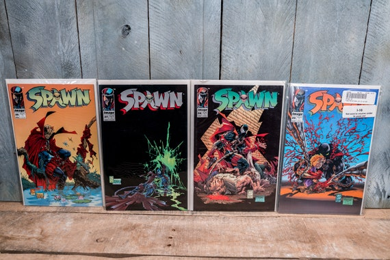 Vintage Spawn Comic Book Lot Todd McFarlane Spawn 26 27 28 29 Image Comics Very Fine/Fine Condition Comic Book Lot