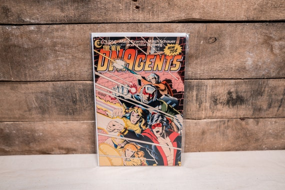 Vintage 1980s DNAgents #1 Comic Book Eclipse Comics