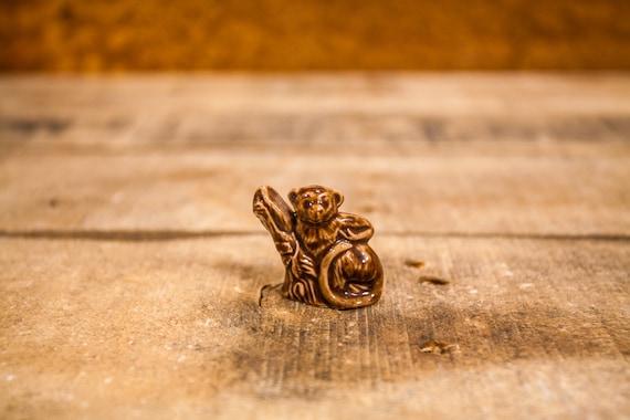 Vintage Red Rose Tea Monkey Wade England Collectable Figurine Rose Tea Figures Wade Whimsies Wade Pottery Miniature Figurine