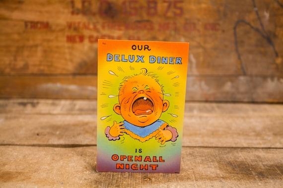 Vintage Comic Cartoon Postcard Novelty Humor Risque Cartoon Souvenir Baby