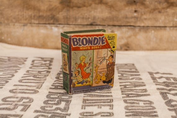 Vintage 1940s Blondie Who's the Boss Big Little Book #1423 Chic Young Collectable Books