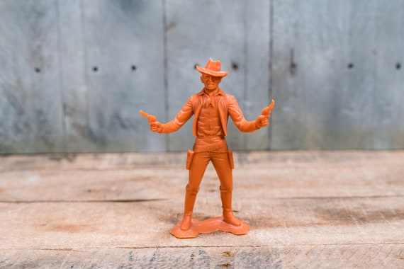 Vintage Louis Marx Cowboy Plastic Toy Figure Cowboys Indians Kids Toys Louis Marx & Co 6 Inch Figure