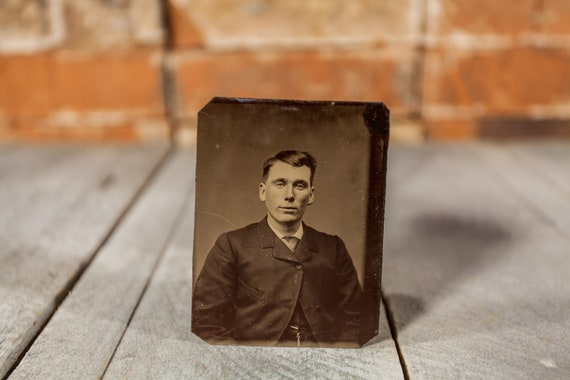 Antique Tintype Photography Man Photo Tintype Photograph Photo Props