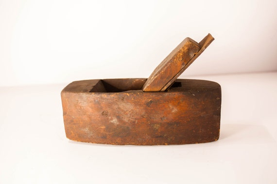 Antique 1900s Scioto Works Woodworking Plane #3 New York Coffin Plane Primitive Woodworking Farm Barn Rustic
