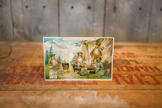 Antique Liebig Advertising Trading Card Meat Extract Ephemera Victorian Collectable