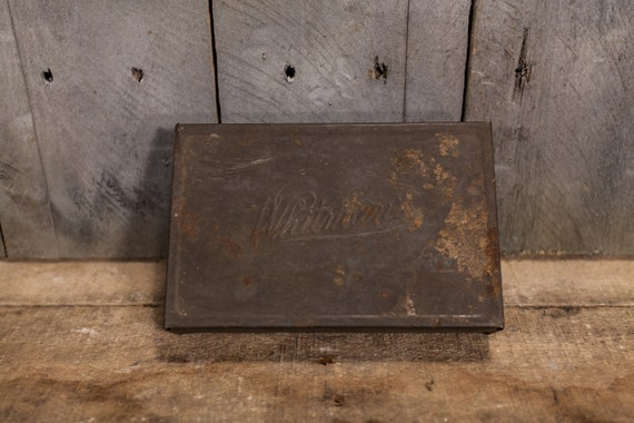 Vintage Whitman's Tin Storage Tin Rustic Kitchen Home Decor Candy