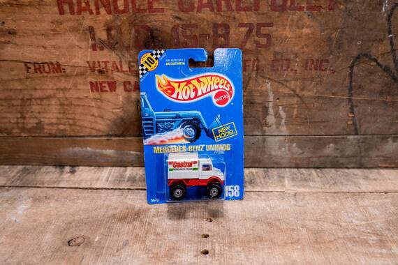 Vintage Hot Wheels 1990 Mercedes Benz Unimog Castrol Mattel Collectable Toy Unopened Original Car Kids Man Cave