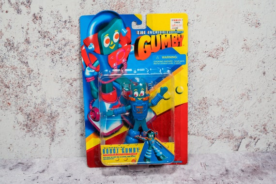 Vintage 1996 The Incredible Adventures Of Gumby Superflex Robot Gumby Kids Nursery NOS