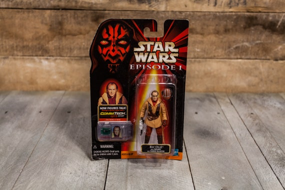 Vintage Star Wars Action Figure Ric Olie Episode 1 Comm Tech Chip Collection 2 Hasbro Figure, Star Wars Toy