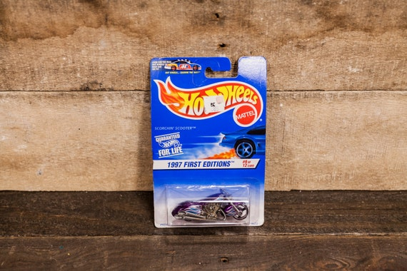 Vintage Hot Wheels 1997 Scorching Scooter First Edition Mattel Collectable Toy Unopened Original Car Kids