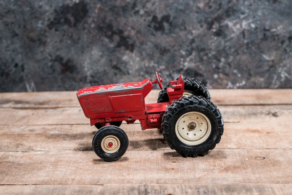 Vintage Die-Cast ERTL Red Tractor Toy Kids Nursery Decor Man Cave Farmhouse Country Rustic