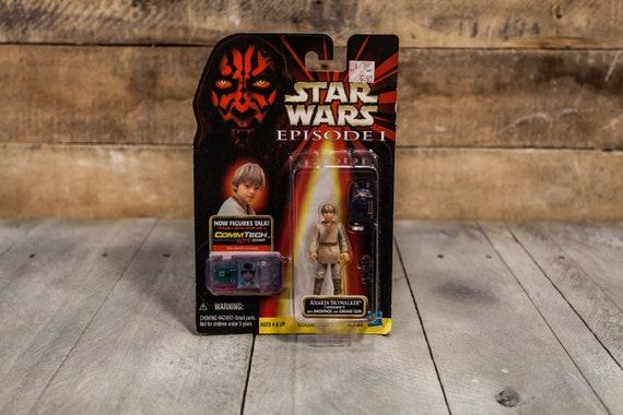 Vintage Star Wars Action Figure Anakin Skywalker Episode 1 Comm Tech Chip Collection 1 Hasbro Figure, Star Wars Toy