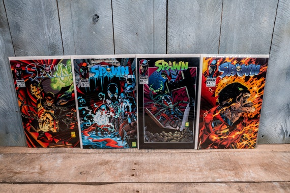 Vintage Spawn Comic Book Lot Todd McFarlane Spawn 16 17 18 19 Image Comics Very Fine/Fine Condition Comic Book Lot