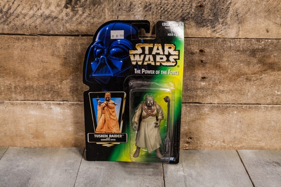 Vintage Star Wars Action Figure Tusken Raider The Power of the Force Kenner Figure Star Wars Toy