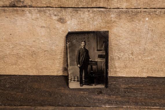 Antique Tintype Photography Man Photo Tintype Photograph Photo Props
