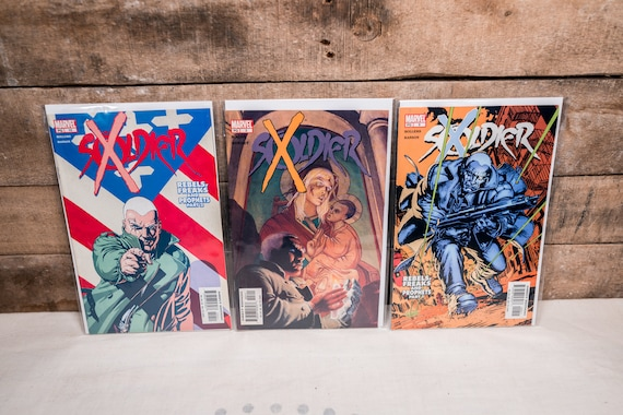 Vintage Soldier X Comic Book Lot #3 #9 #10 Comic Book Lot