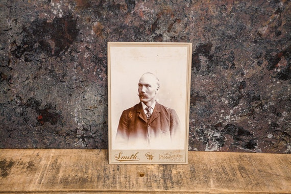 Antique Cabinet Card Photography Man Photo Smith Photograph Photo Props