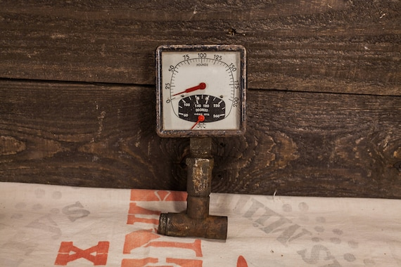 Vintage Marshalltown Mfg Co. Iowa Square Gauge, Industrial Gauge, Steampunk Rustic Decor