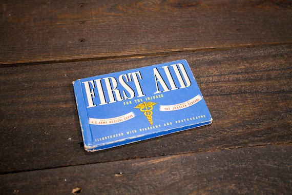 Vintage 1942 U.S. Army Medical Corps First Aid Book Military Medic Man Cave Army Whitman Publishing