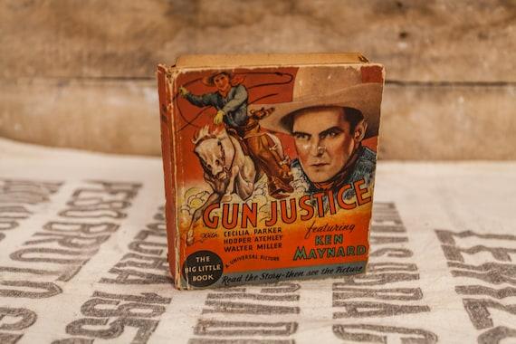 Vintage 1930s Gun Justice Big Little Book #776 Collectable Books