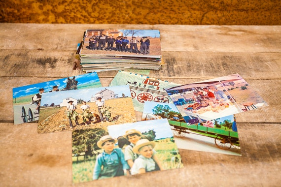 Vintage Amish Unused Postcard Lot of 10 Random Ephemera Mixed Lot United States