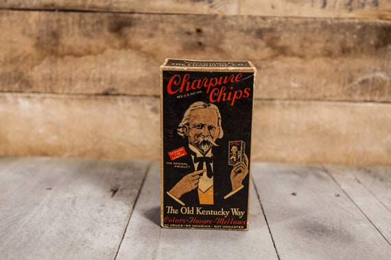 Vintage Charpure Chips Advertising Box The Old Kentucky Way Original Unopened Package Advertising Box Man Cave Whiskey Rum The Charpure Co