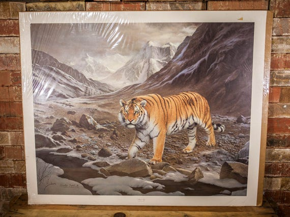 Vintage Charles Frace Siberian Tiger Signed Numbered Limited Edition Print The Frame House Gallery Artwork Wildlife Nature Fine Art