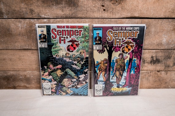Vintage Semper Fi Book Lot #1 #2 Comic Book Lot Military Marines