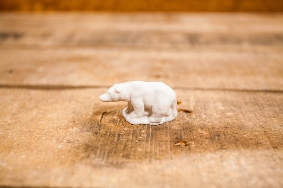 Vintage Red Rose Tea Polar Bear Wade England Collectable Figurine Rose Tea Figures White Wade Whimsies Wade Pottery Miniature Figurine