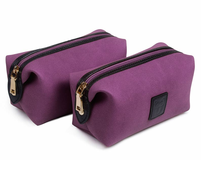 Toiletry Bag Women Leather Toiletry Travel Bag Dopp Kit  b4979a8fb2a0d