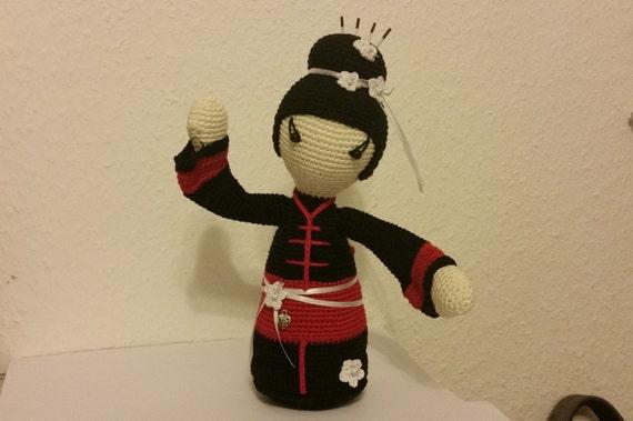 Häkelanleitung TOMOKO Geisha eine japanische Puppe   Etsy