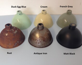 Hanging Pendant Lamp Shade Light Vintage Industrial Salvage Rustic Cast Iron