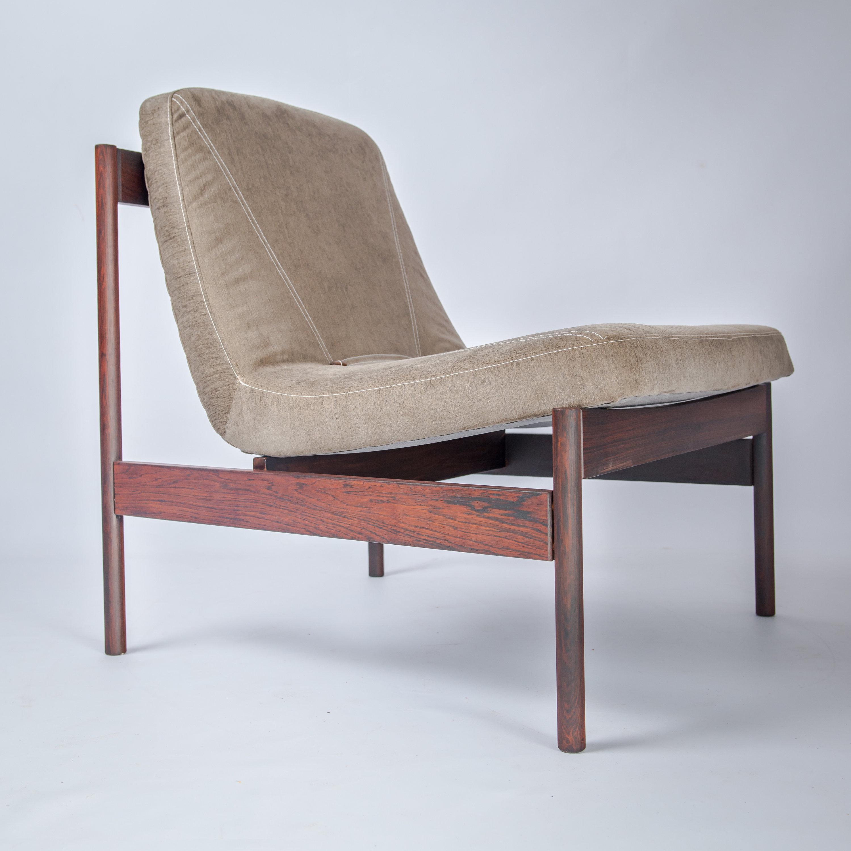 Mid Century Danish Modern Modernist Slipper Armless Lounge Chair