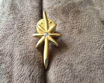 Vintage Goldtone Star Design Pin/Brooch