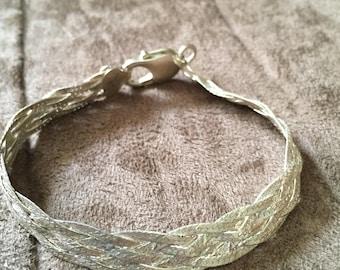 Vintage Sterling Silver Braided Bracelet