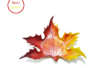 Maple Leaf Leather Tray