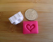 Small heart stamp for pottery soap and polymer clay