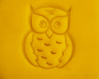 Cute Owl Stamp Deep Indent for homemade soaps