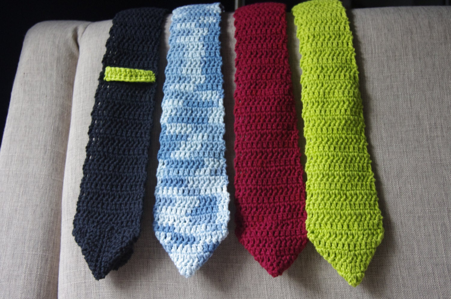 Men\'s Crochet Necktie - Pattern Only from SommertymeCreations on ...