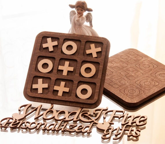 xoxo heart and flowers Valentines day gift girlfriend gift Custom tic tac toe wood game love you game mother day gift