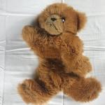 """GUND Plush Bear 1982 Lying 14"""" Stuffed Beans Teddy Cute Cuddly 80s Cub Kids"""