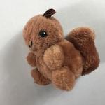 "Dakin Plush Squirrel 1978 Stuffed Firm Beans Small 4.5"" Ground Nutshells 70s"