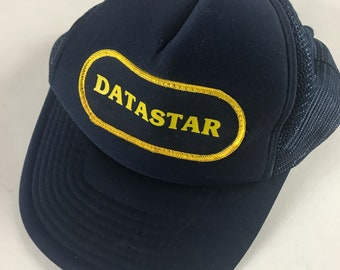 8545fc23a943d Data Star Snapback Hat Foam Front Cap Blue Yellow Trucker Star Trek Adult