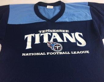 Tennessee Titans Jersey Shirt 90s Adult Medium V-Neck USA Made NFL Football 1bbdb3145