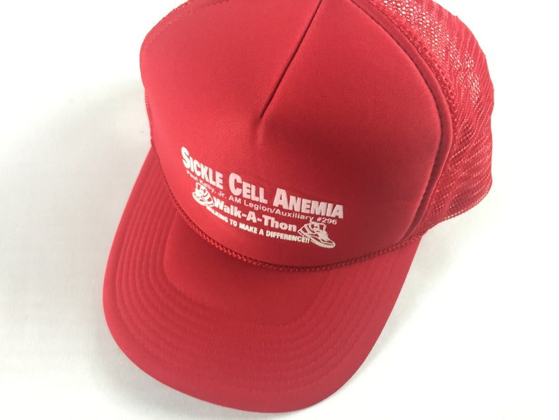 Sickle Cell Anemia Snapback Hat Foam Front Red Walk A Thon image 0