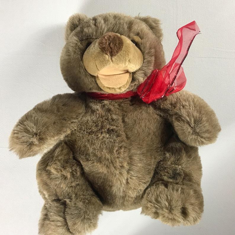 Plush Creations Bear 1996 Large 15 Chubby Cuddly Stuffed image 0