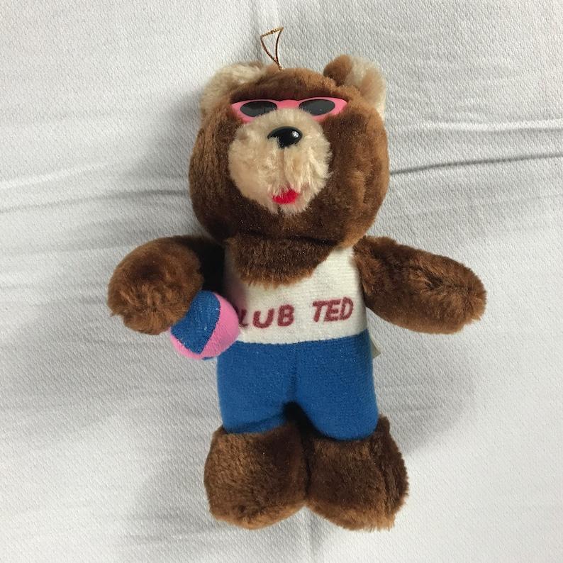 Club Ted Plush Bear 1989 Small 8 Firm Stuffed Beach Ball image 0