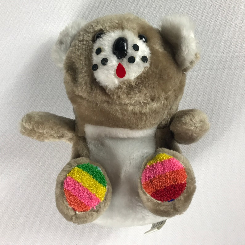 Link & Pan Plush Bear Colorful Rainbow Paws Teddy Dotted Face image 0